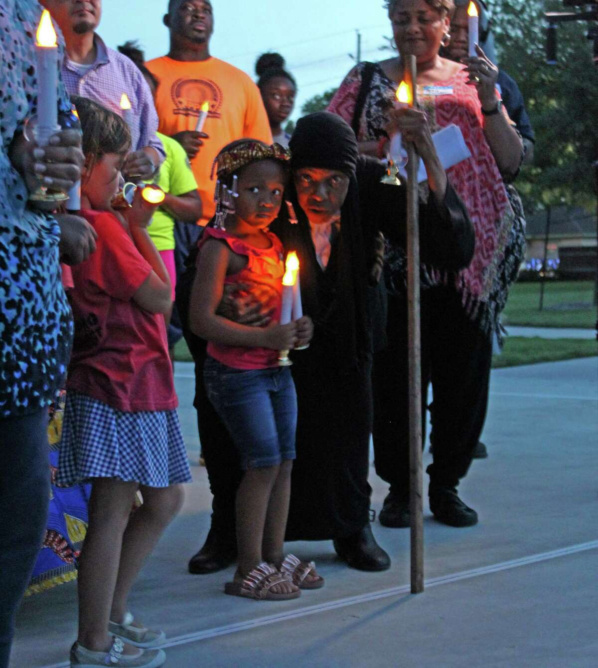 Juneteenth candlelight vigil honoring the Sugar Land 95 at Mayfield Park