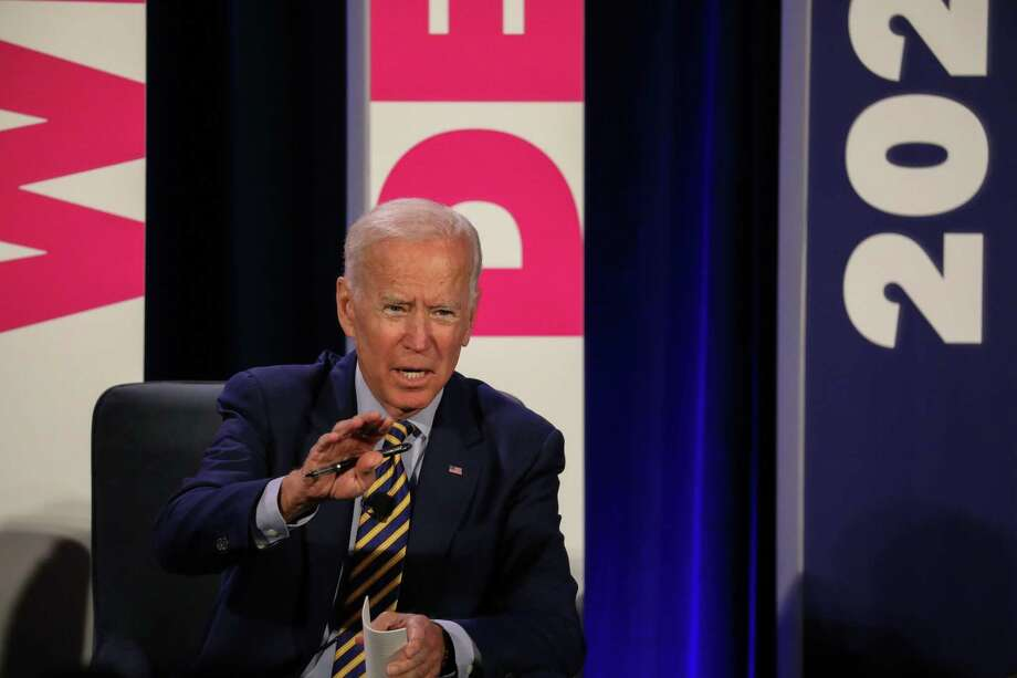 Former Vice President, Joe Biden, adresses the audience at the We Decide: Planned Parenthood Action Fund 2020 Election Forum to Focus on Abortion and Reproductive Rights event in Columbia, SC on June, 22 2019. - Many of the Democratic candidates running for president are in Columbia to make appearances at the South Carolina Democratic Party Convention and the Planned Parenthood Election Forum on June 22. (Photo by Logan Cyrus / AFP)LOGAN CYRUS/AFP/Getty Images Photo: LOGAN CYRUS, Contributor / AFP/Getty Images / AFP or licensors