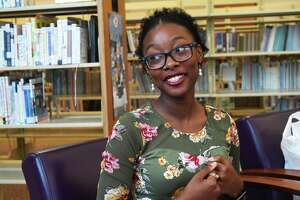 Beaumont native, Evelyn Thomas talks about recently graduating from the University of Texas with a degree in Mechanical Engineering and another in History.   Photo taken Monday, 6/3/19