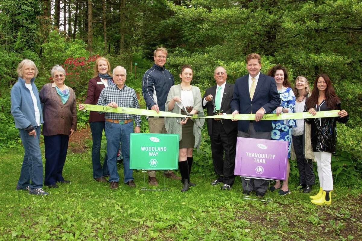 On June 11, CDPHP cut the ribbon for two brand-new health and wellness trails at Pine Hollow Arboretum in Slingerlands. The CDPHP Tranquility Trail and Woodland Way aim to encourage folks to hit pause on their day to enjoy some fresh air and picturesque scenery, all while getting in some heart-healthy exercise. (Photo provided)
