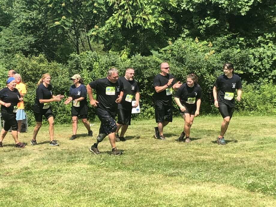 West Haven's Chris Scranton, surrounded by family and friends, competed in the Galyord Gauntlet for the third consecutive year. Photo: Will Aldam / Hearst Connecticut Media