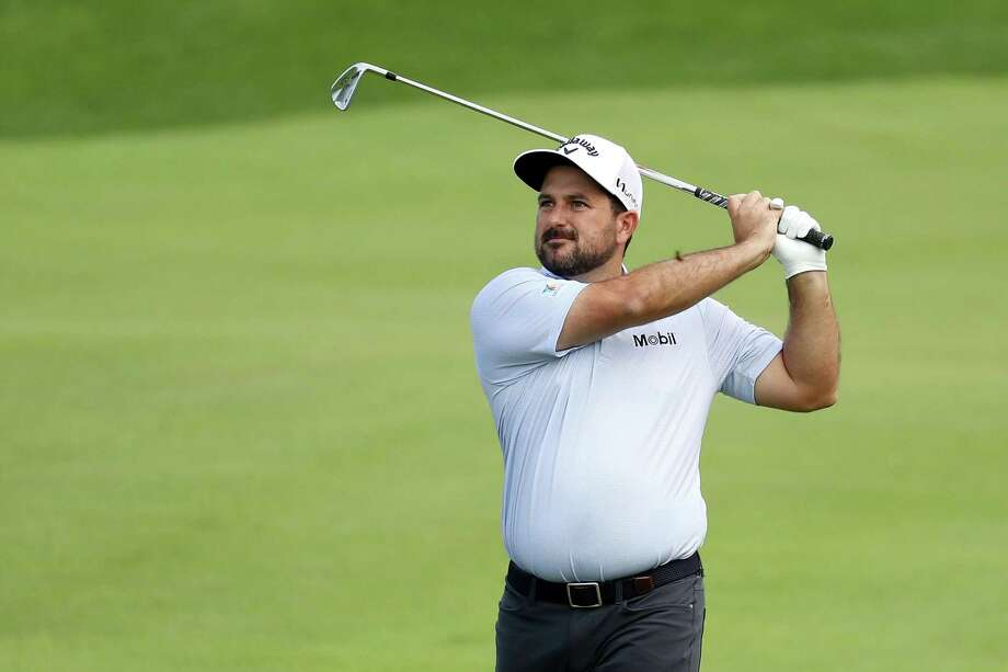 Roberto Diaz plays a shot on the 18th hole during the third round of the Travelers Championship on Saturday. Photo: Rob Carr / Getty Images / 2019 Getty Images