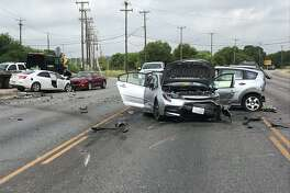 A four-vehicle wreck Friday, June 21, 2019, resulted in the death of one man and the arrest of an 18-year-old man now charged with murder, according to Leon Valley Police.