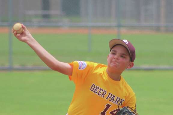 Deer Park 11s all-star Rome Gatlin shows his form that led to a three-hitter Saturday. Gatlin didn't allow an earned run and permitted just three singles.