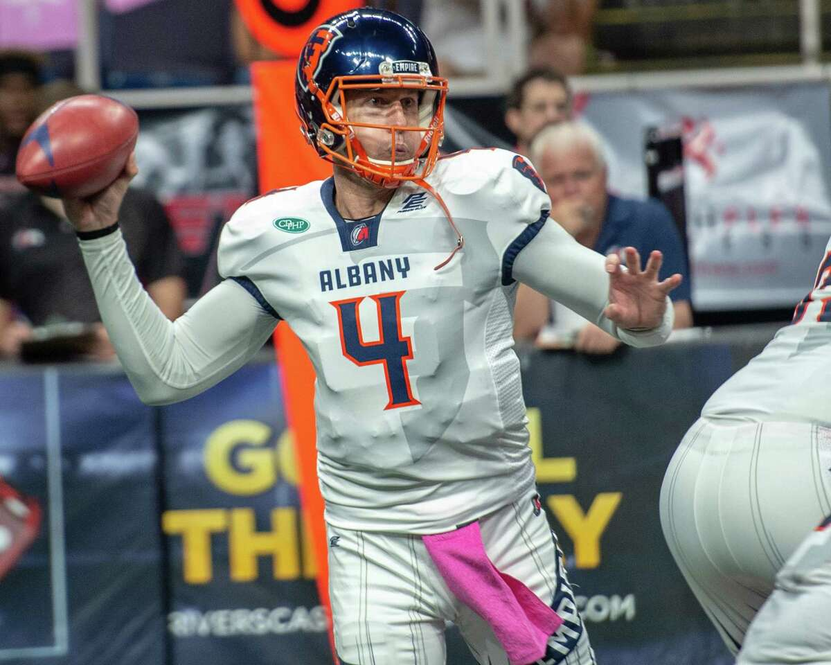 Albany Empire quarterback Tommy Grady during a game against the Atlantic City Blackjacks at the Times Union Center on Saturday, June 22, 2019 (Jim Franco/Special to the Times Union.)