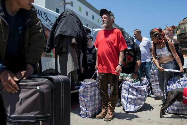 Homeless people protest SF collecting their belongings