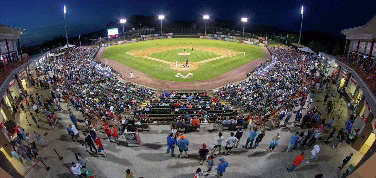 The attendance on Saturday, June 22, for the Tri-City ValleyCats game against the Vermont Lake Monsters at Joseph L. Bruno Stadium was 4,611 (Jim Franco/Special to the Times Union.)