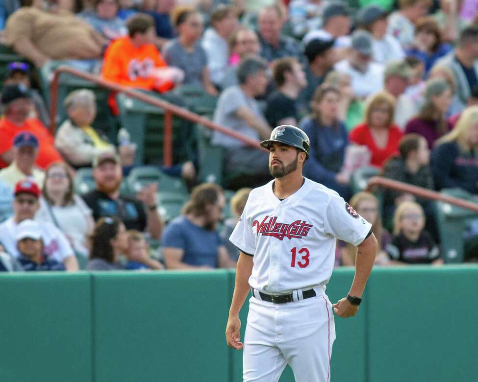 Tri-City ValleyCats manager Ozney Guillen during a game against the Vermont Lake Monsters at Joseph L. Bruno Stadium in Troy on Saturday, June 22, 2019 (Jim Franco/Special to the Times Union.)