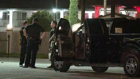"""A man and a woman were shot as they walked to their pickup truck at the """"Exclusive Bar"""" in South Houston."""