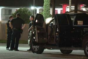 "A man and a woman were shot as they walked to their pickup truck at the ""Exclusive Bar"" in South Houston."