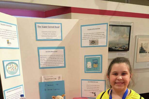 Aimee Lippman, of Danbury, was one of 500 students nationwide chosen to compete at the National Invention Convention in Michigan at The Henry Ford museum. Aimee, daughter of David and Dawn Lippman, is a second grader at Pembroke Elementary School.