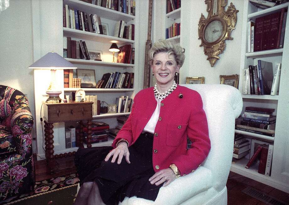 FILE - Judith Krantz, poses in an undated file photo during an interview at her home in the Bel Air section of Los Angeles, Ca. Krantz died Saturday, June 22, 2019 in her Bel Air home od natural causes, said her son Tony Krantz. She was 91. (Deidre Hamill/AP Photo, File) Photo: Deidre Hamill, Associated Press