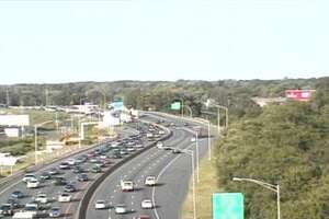 Traffic on Interstate 95 southbound between exits 34 and 30 in Stratford was congested on Sunday, June 23, 2019, following a two-car accident.