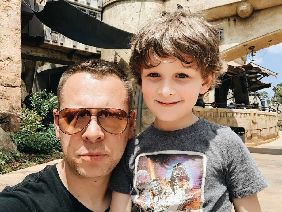 East Bay resident Christopher Norton and his six-year-old son, Emerson, pose together while at Disneyland's Star Wars: Galaxy's Edge land on June 7, 2019. Photo: Christopher Norton