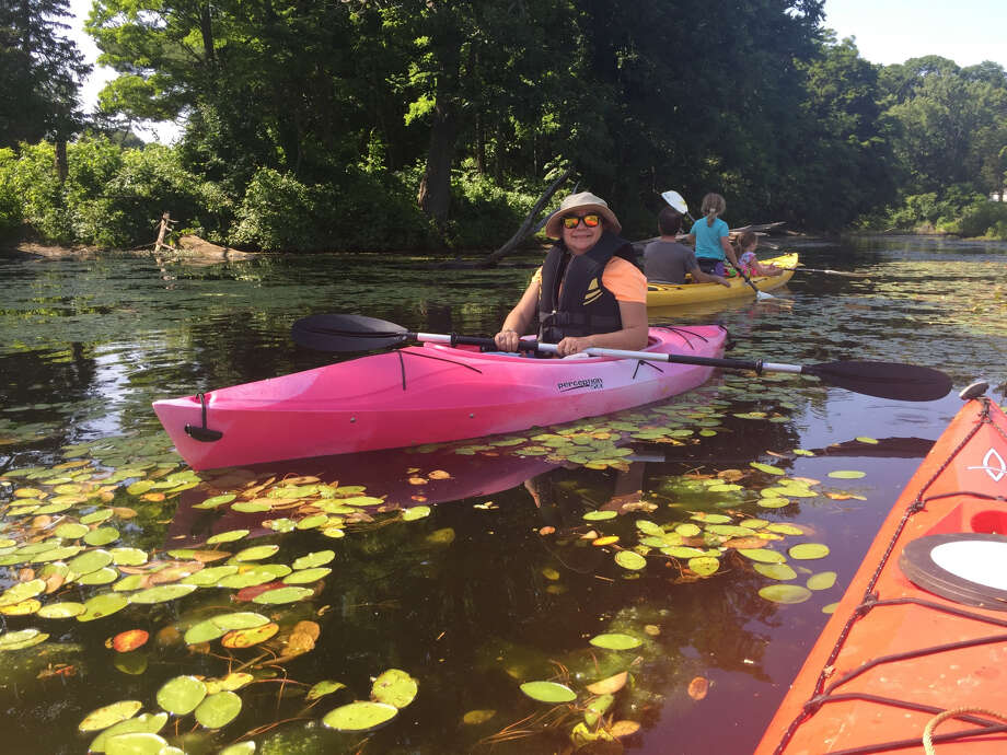Suzanne Petty bought a kayak just so she could participate in the 'float-in' in support of saving Ida Lake. Photo: Tena Tyler