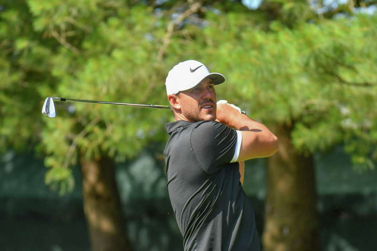 Brooks Koepka hits a tee shot during last year's Travelers Championship at TRC River Highlands in Cromwell. Koepka, the No. 3 golfer in the world and a four-time major champion, will play in the event again next month.