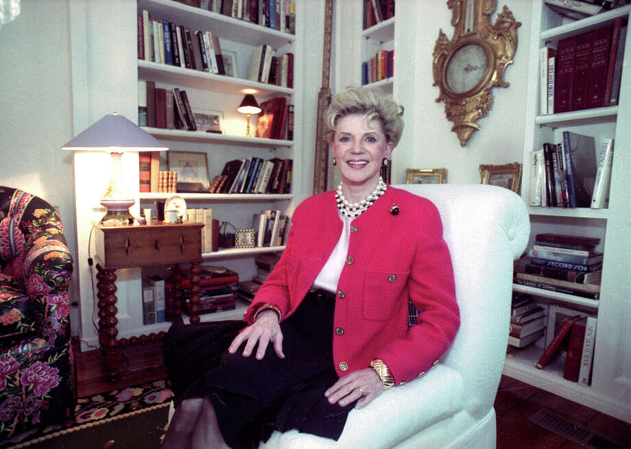 FILE - Judith Krantz, poses in an undated file photo during an interview at her home in the Bel Air section of Los Angeles, Ca. Krantz died Saturday, June 22, 2019 in her Bel Air home od natural causes, said her son Tony Krantz. She was 91. (Deidre Hamill/AP Photo, File) Photo: Deidre Hamill / AP1990
