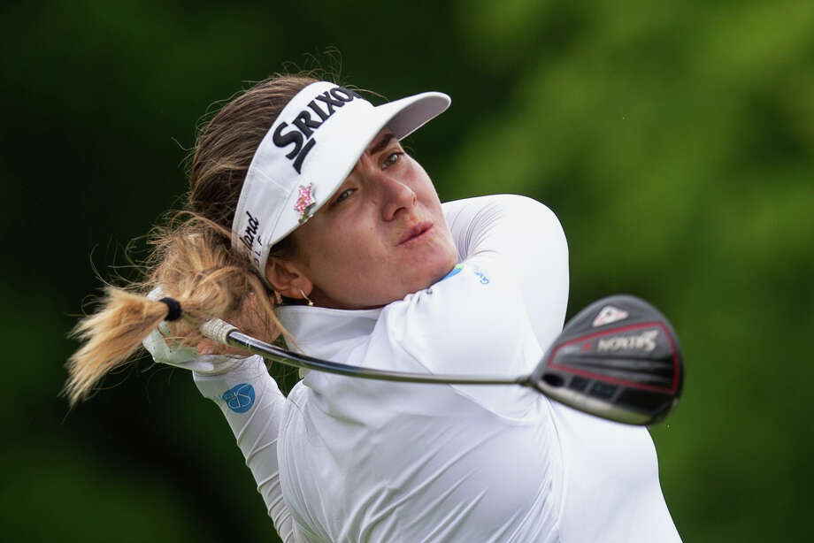 Hannah Green, of Australia, hits a drive on the 10th hole during the final round of the KPMG Women's PGA Championship golf tournament, Sunday, June 23, 2019, in Chaska, Minn. (AP Photo/Andy Clayton-King) Photo: Andy Clayton-King / Copyright 2019 The Associated Press. All rights reserved