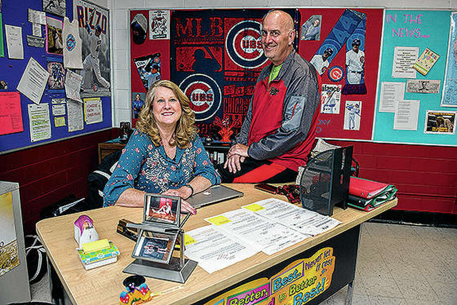 Middle school teachers Jan and Tom Unruh retired at the end of the year. Photo: Alex T. Paschal | Sauk Valley Media (AP)