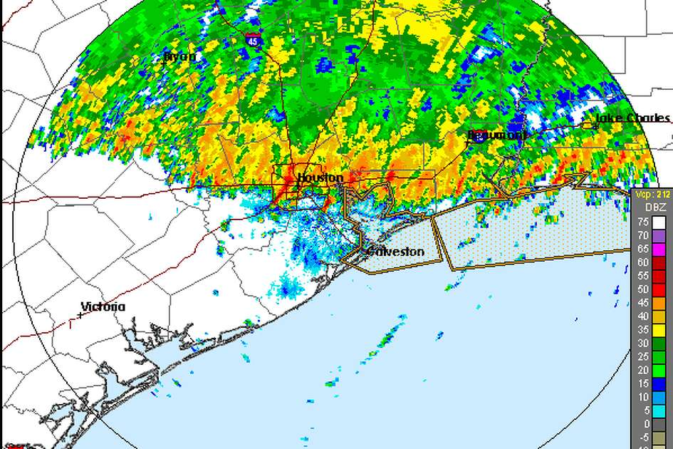 A line of strong storms moved through the Houston area Monday morning, creating dangerous conditions on some roadways.