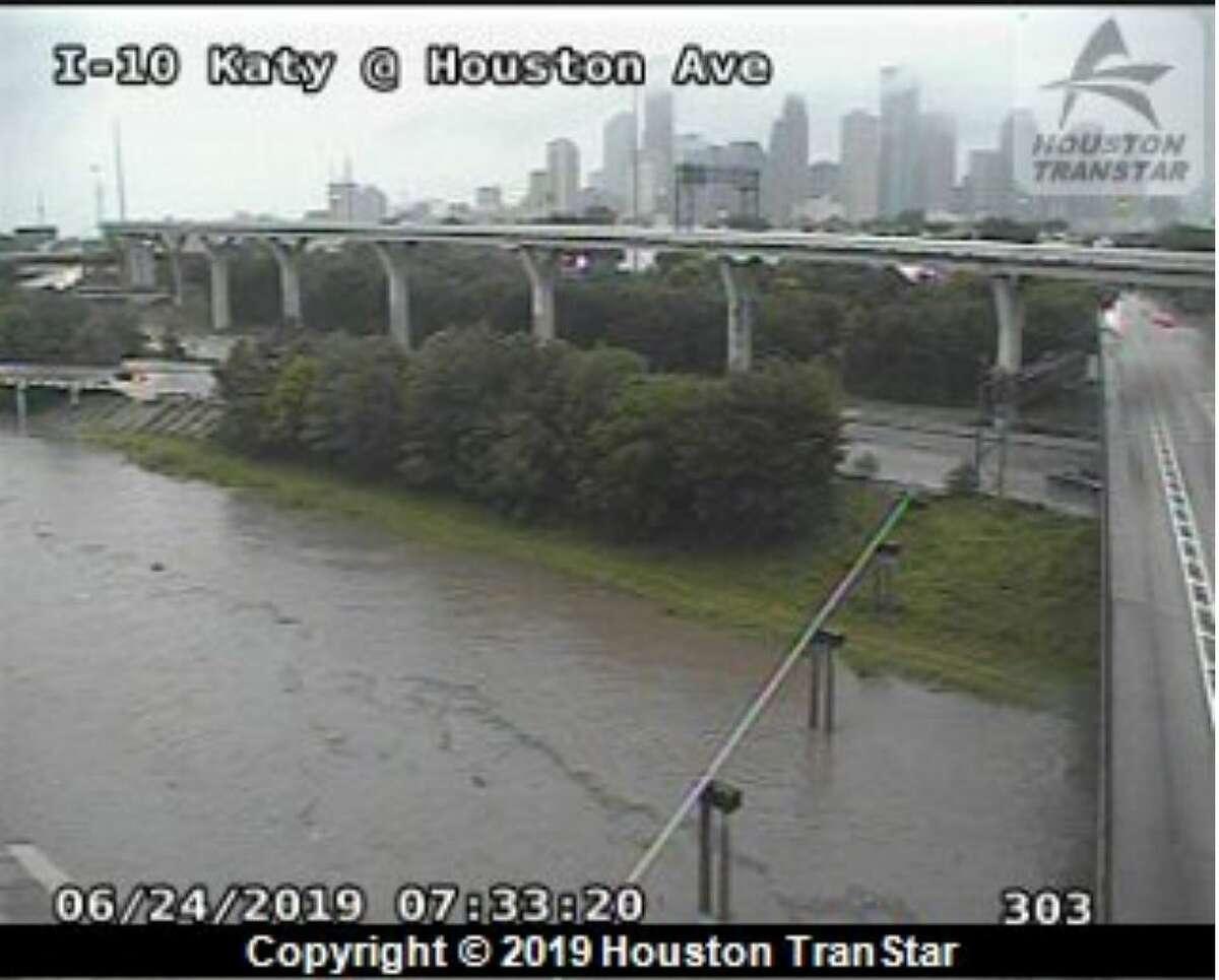 Katy Freeway at Houston Avenue.