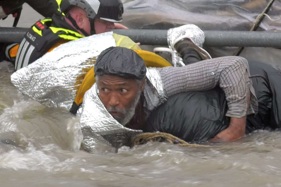 A man was rescued from high water on Monday, June 24.