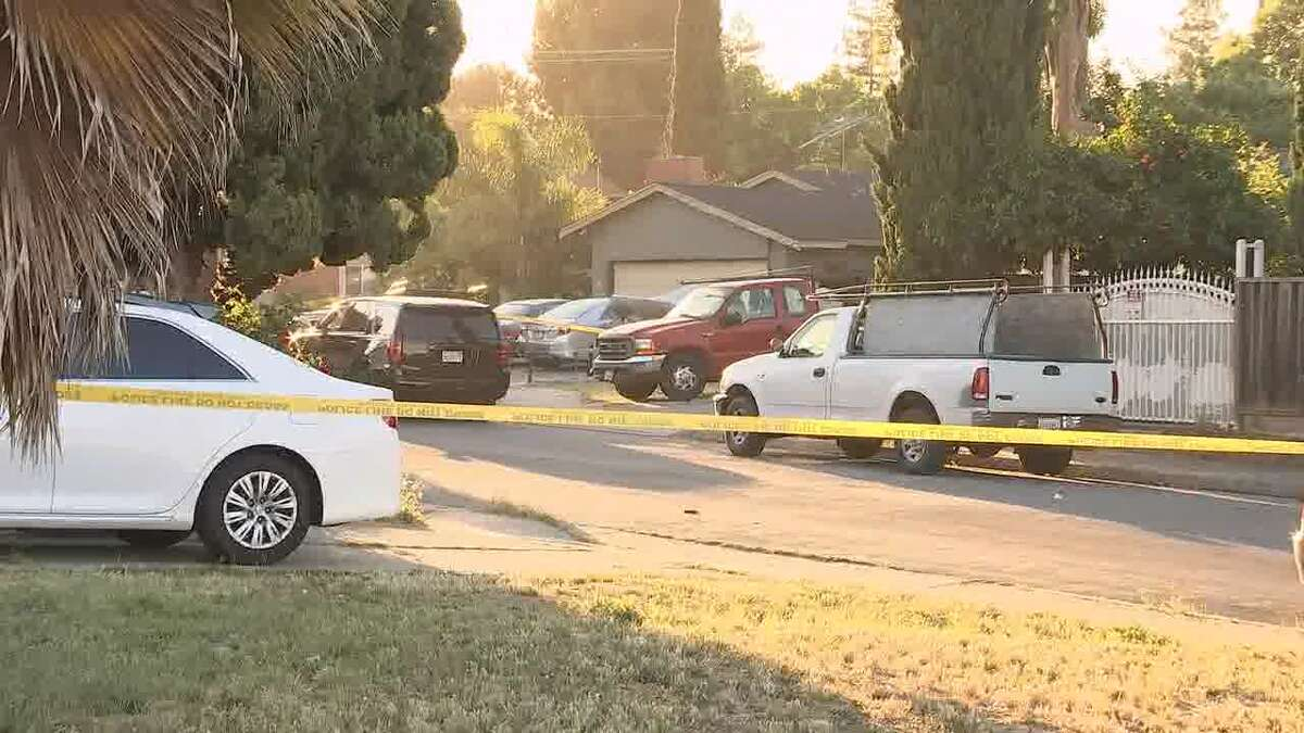 The 500 block of Habbitts Court in San Jose, where police say at least five are dead after a standoff on Sunday night.
