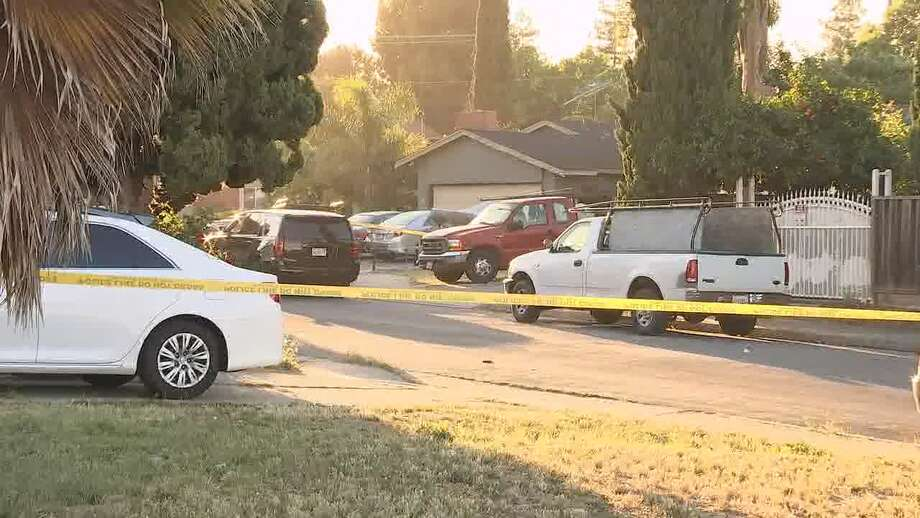 The 500 block of Habbitts Court in San Jose, where police say at least five are dead after a standoff on Sunday night. Photo: KTVU