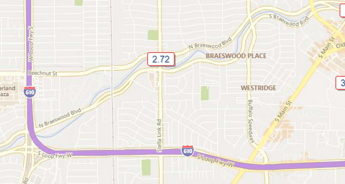 Beechnut and Stella Link Rd. - Southwest Houston 2.72 inches