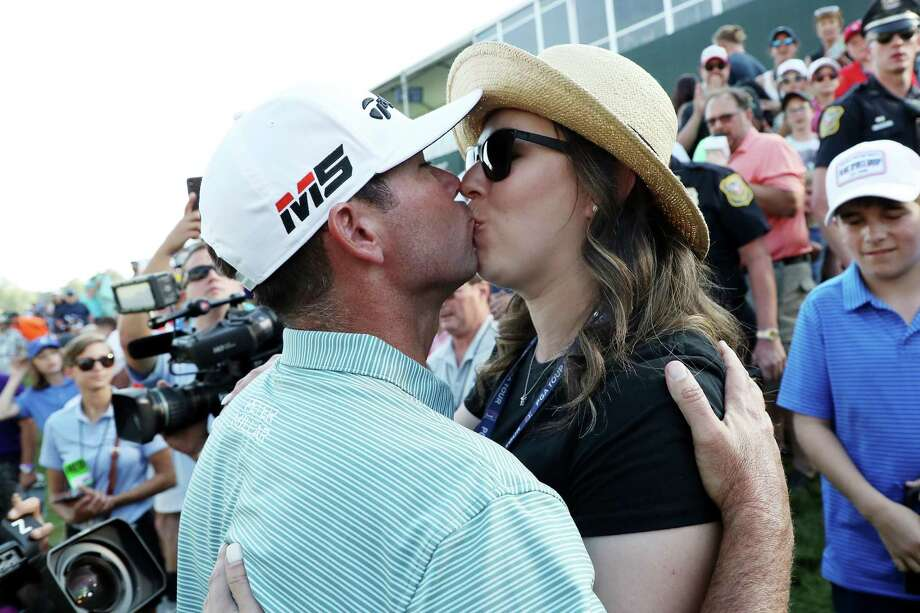 CROMWELL, CONNECTICUT - JUNE 23: Chez Reavie of the United States celebrates with wife Amanda Henrichs after winning the Travelers Championship at TPC River Highlands on June 23, 2019 in Cromwell, Connecticut. (Photo by Rob Carr/Getty Images) Photo: Rob Carr / Getty Images / 2019 Getty Images