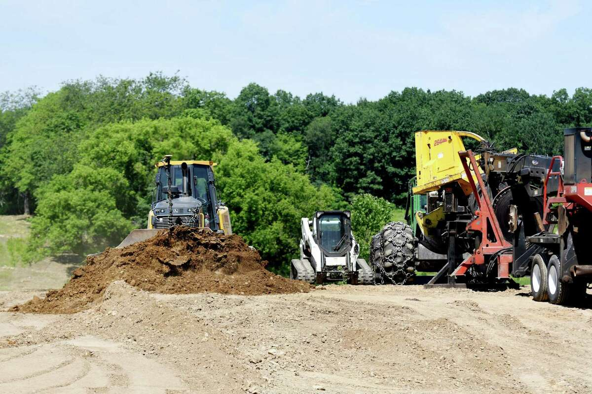 Clearing begins on the new Amazon warehouse site on Monday, June 24, 2019, on Route 9 in Castleton, N.Y. (Catherine Rafferty/Times Union)