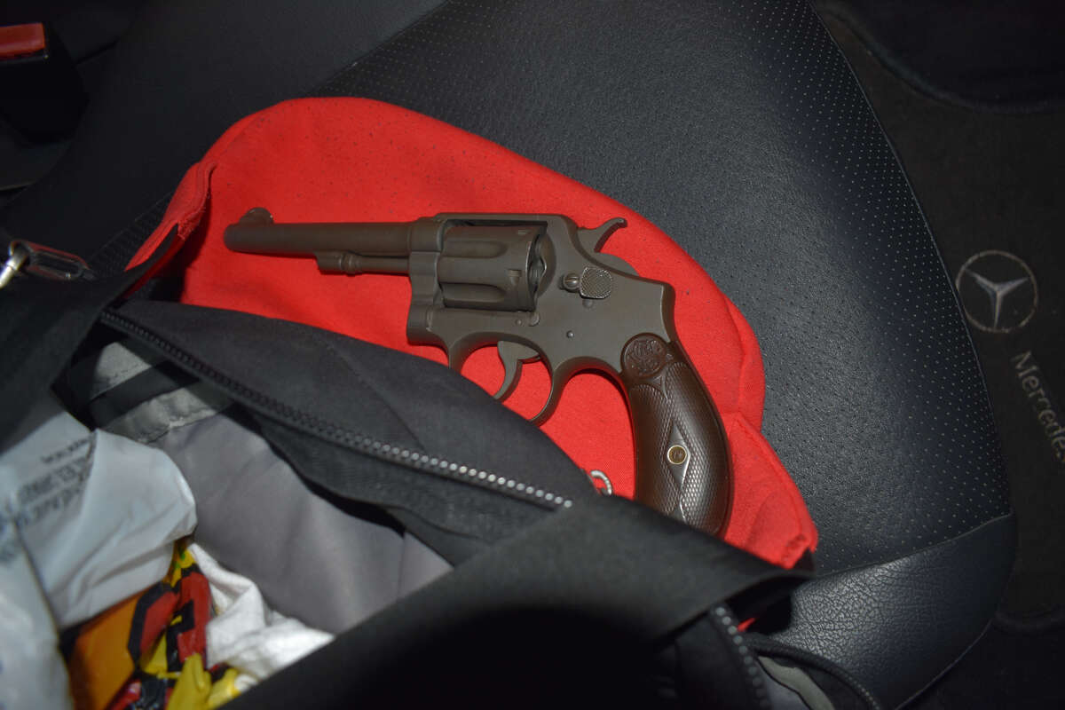 The Smith & Wesson .32 caliber handgun Colonie police say they recovered after a traffic stop Sunday night.