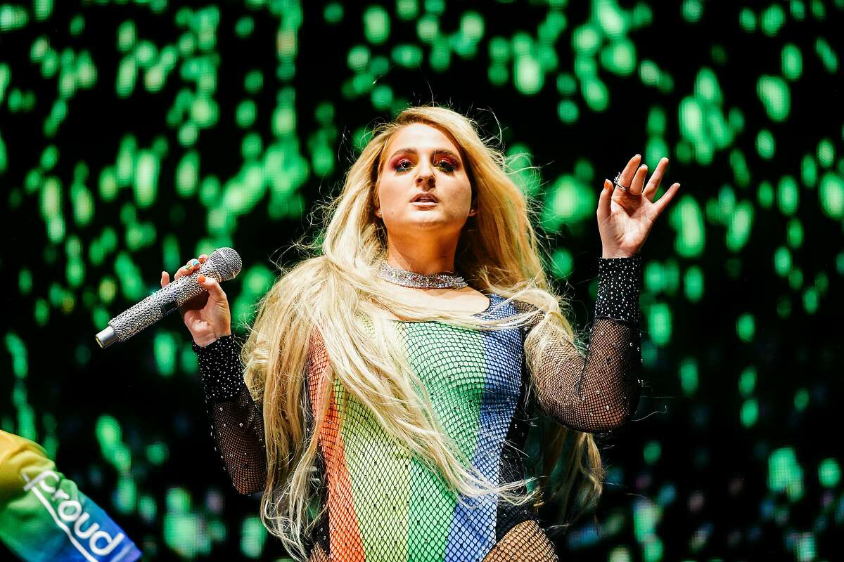"""Meghan Trainor performs at the LA Pride 2019 on June 08, 2019 in West Hollywood, California. She will be a guest on """"The Art of Kindness with Robert Peterpaul."""""""