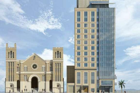 SMS-SAR Hospitality, LLC has proposing building a 14-story hotel near St. Mary's Catholic Church in downtown San Antonio.