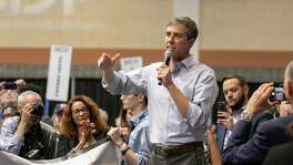 Democratic presidential candidate Beto O'Rourke speaks during the South Carolina Democratic Convention in Columbia, S.C. (Tracy Glantz/The State via AP)