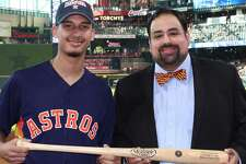 Alberto Gonzalez stepped into Minute Maid Park recently to be honored at a Houston Astros game for his academic success.Because of these achievements, Gonzalez was honored by Oscar Ramos, dean of LSC-Atascocita Center and LSC-Process Technology Center.