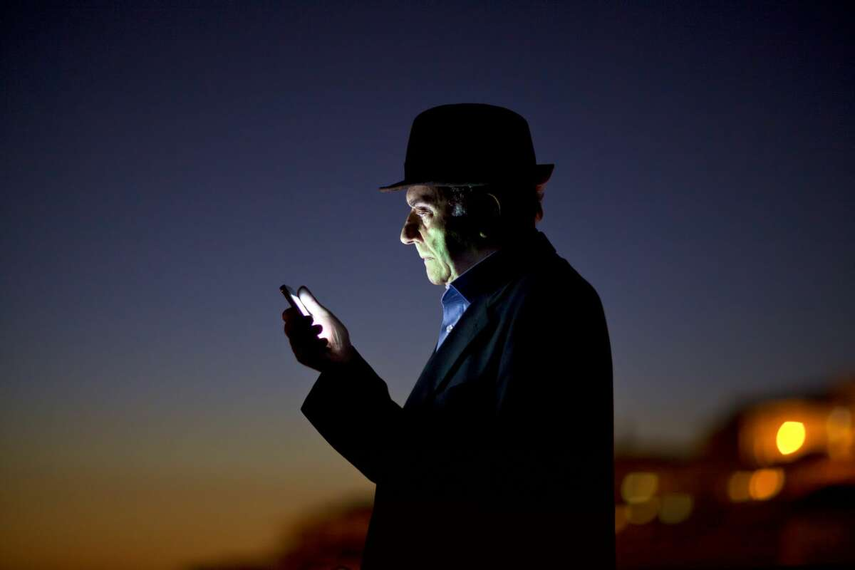 A man keeps in touch with his ex-girlfriend.