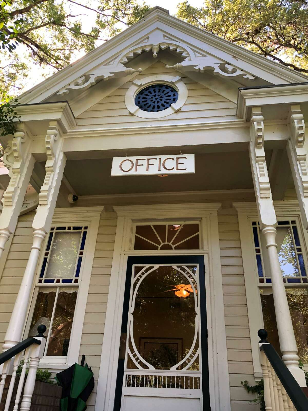 The Glenwood Cemetery office is in a Victorian home built in 1888.