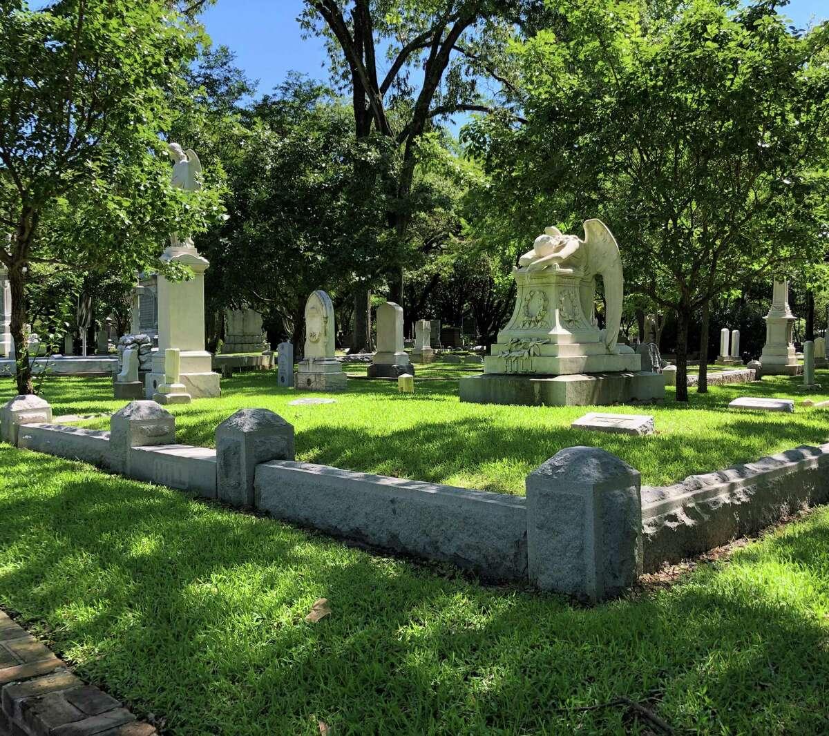 Scene from the historic Glenwood Cemetery.