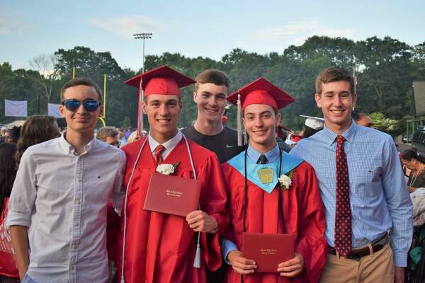 Seniors from Monroe's Masuk High School graduated at a commencement ceremony on June 17, 2019
