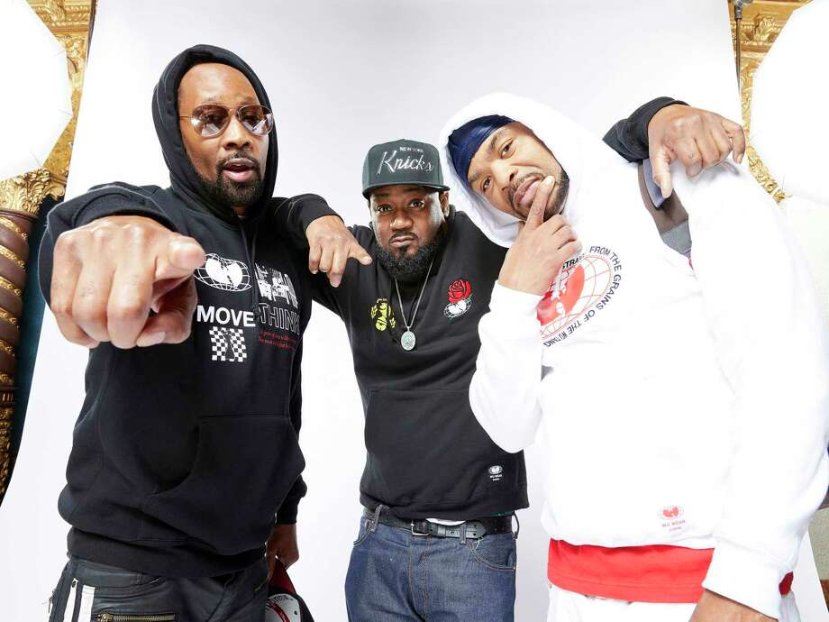 """Wu-Tang Clan members RZA, left, Ghostface Killah and Method Man, promoting the new documentary """"Wu-Tang Clan: Of Mics And Men."""" Photo: Kyle Christy, WU-TANG CLAN: OF MICS AND MEN / Kyle Christy/courtesy Of SHOWTIME / 2019"""