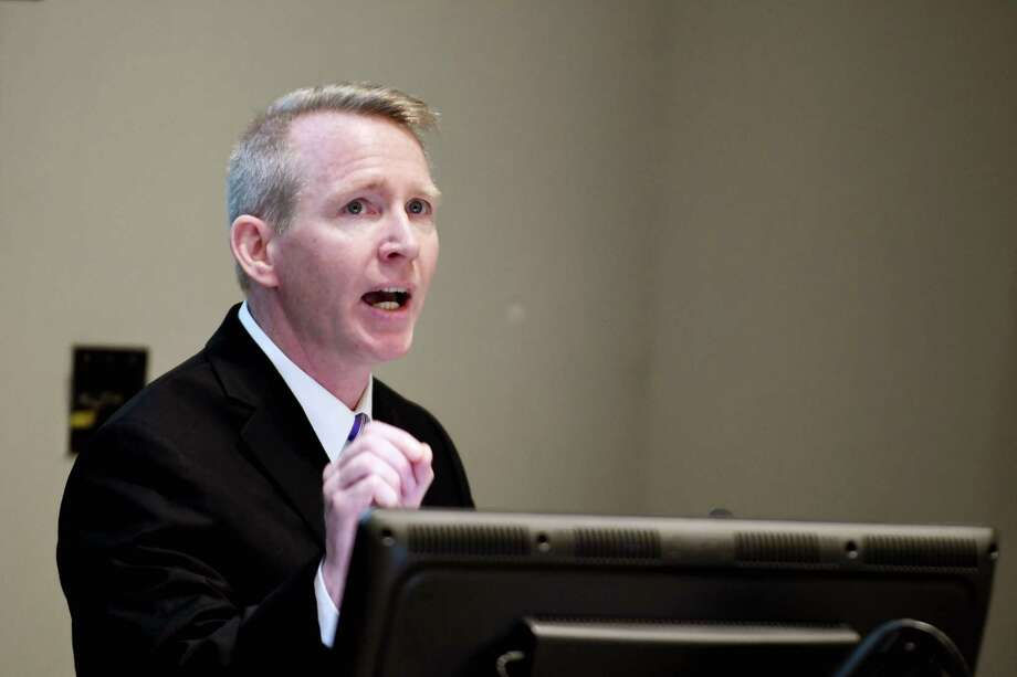 Dr. Dennis P. McKenna is introduced as the new president and CEO of Albany Medical Center on Monday, June 24, 2019, at Albany Medical Center in Albany, N.Y. (Catherine Rafferty/Times Union) Photo: Catherine Rafferty, Albany Times Union / 20047314A