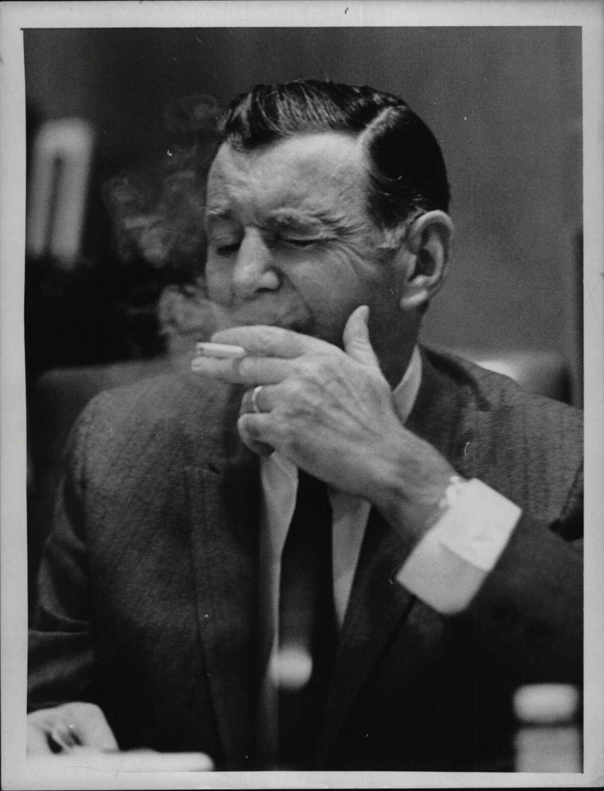 Republican New York State Sen. Earl Brydges, seen on June 23, 1969 (Bob Paley/Times Union Archive)