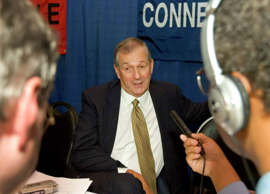UConn head coach Jim Calhoun speaks to the media during the Big East basketball media day Wednesday, Oct. 24, 2007 at Madison Square Garden in New York. Photo: Stephen Chernin / AP / AP