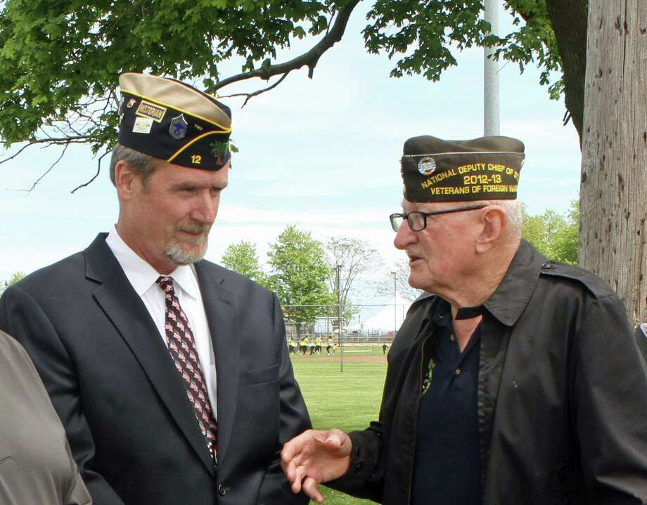 Post 603 Quartermaster is Jeff DeWitt, left, and Post Commander Don Burrows. Photo: Richard Bonenfant / / Richard Bonenfant