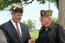 Post 603 Quartermaster is Jeff DeWitt, left, and Post Commander Don Burrows.