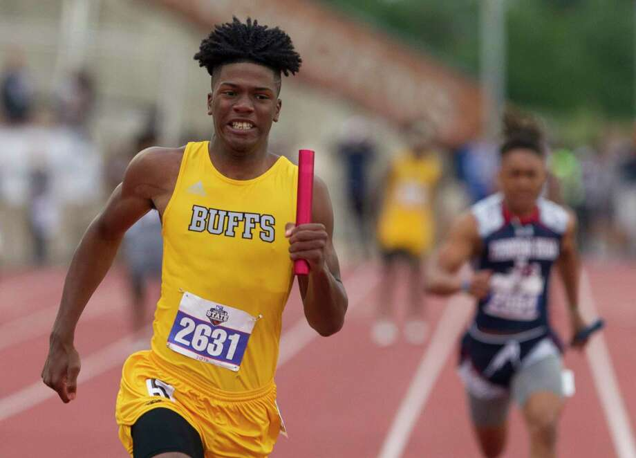 Fort Bend Marshall took first place in the 5A boys 400-meter relay during the UIL State Track & Field Championships at Mike A. Myers Stadium, Friday, May, 10, in Austin. Photo: Jason Fochtman, Houston Chronicle / Staff Photographer / © 2019 Houston Chronicle