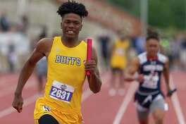 Fort Bend Marshall took first place in the 5A boys 400-meter relay during the UIL State Track & Field Championships at Mike A. Myers Stadium, Friday, May, 10, in Austin.