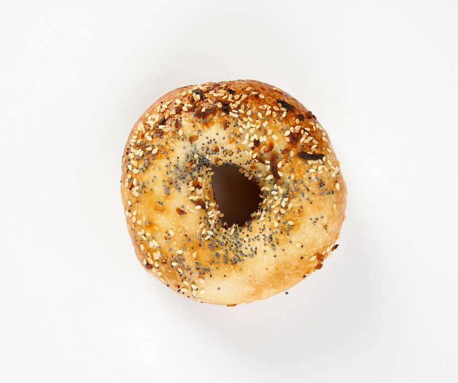 An everything bagel from Dee Spot is seen on Thursday, June 20, 2019 in San Francisco, Calif. Photo: Russell Yip / The Chronicle