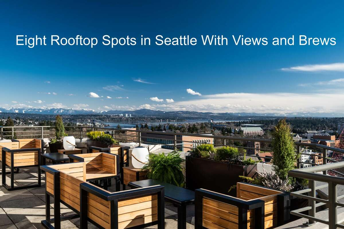 Calling all in search of views and brews, because we've uncovered eight of Seattle's best rooftops for a post-work drink. Here, the recently opened Mountaineering Club in the University of Washington district gazes upon the Cascade mountains.